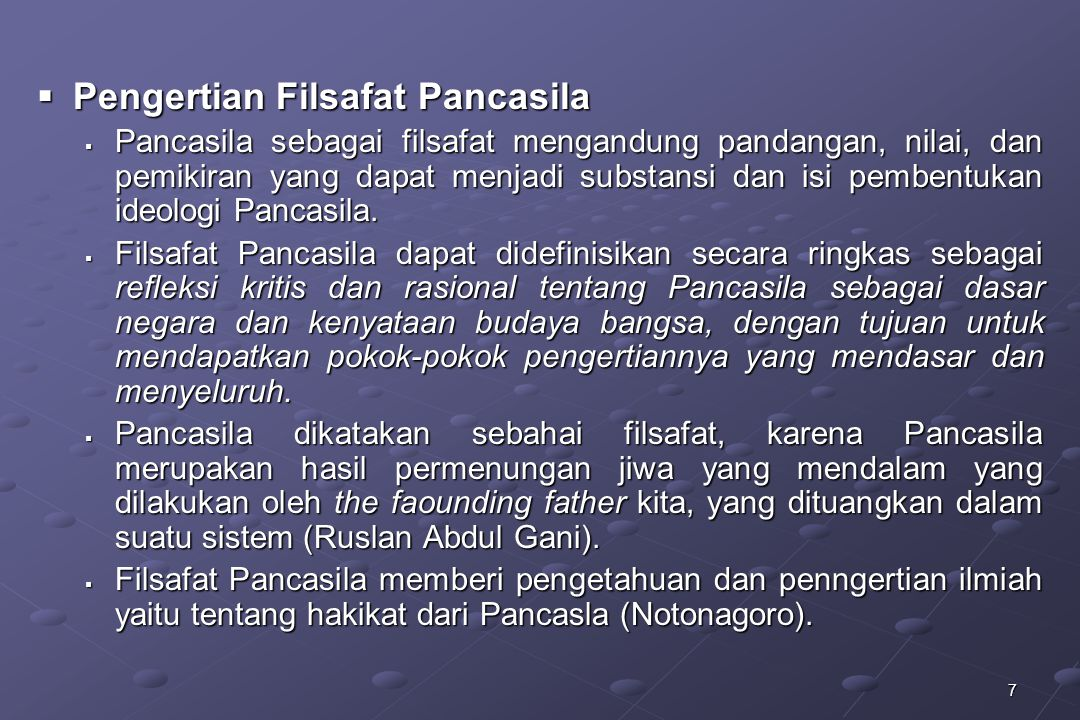 Pengertian Filsafat Pancasila