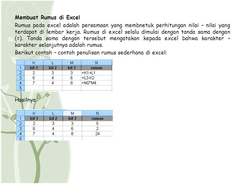 Membuat Rumus di Excel