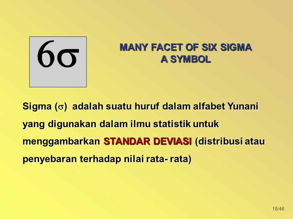 MANY FACET OF SIX SIGMA A SYMBOL