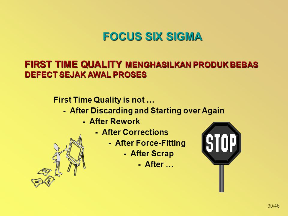 First Time Quality is not … - After Discarding and Starting over Again