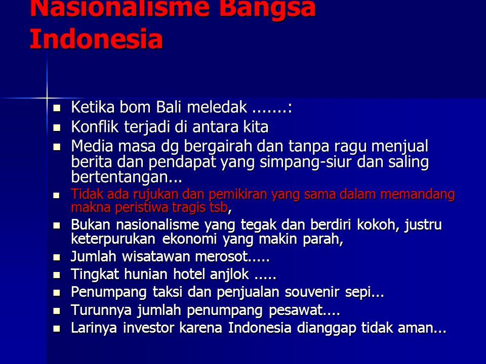 Nasionalisme Bangsa Indonesia