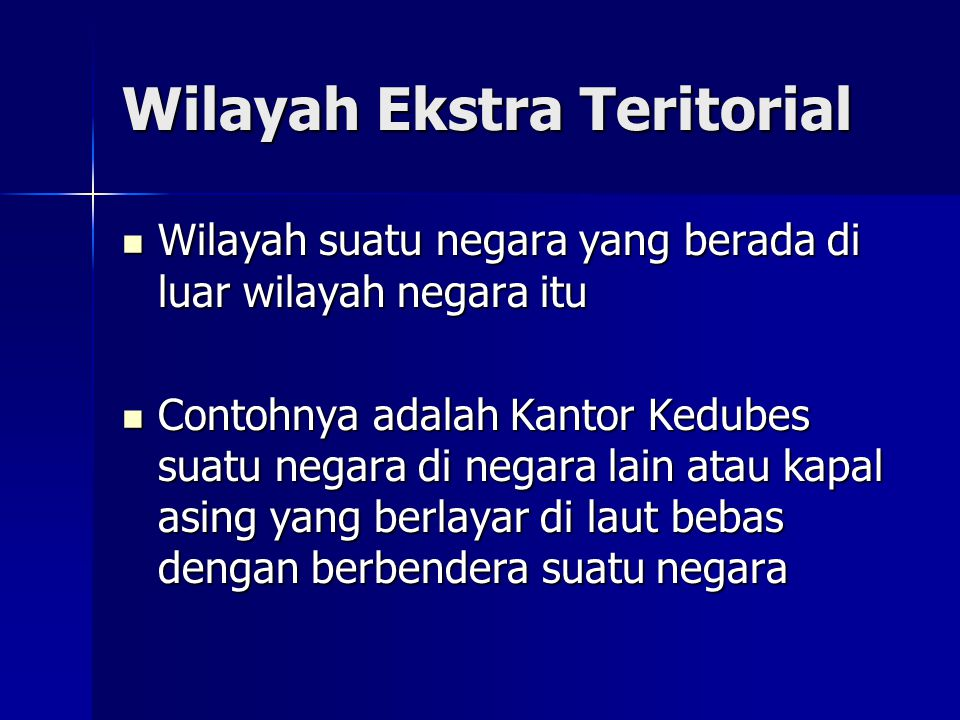 Wilayah Ekstra Teritorial