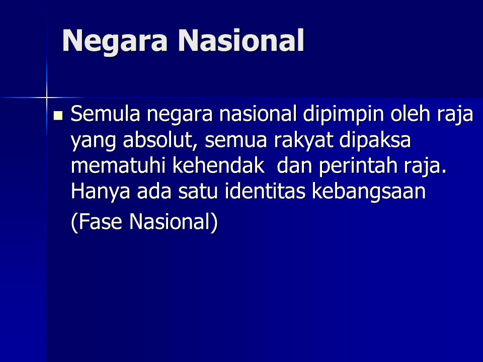 Negara Nasional