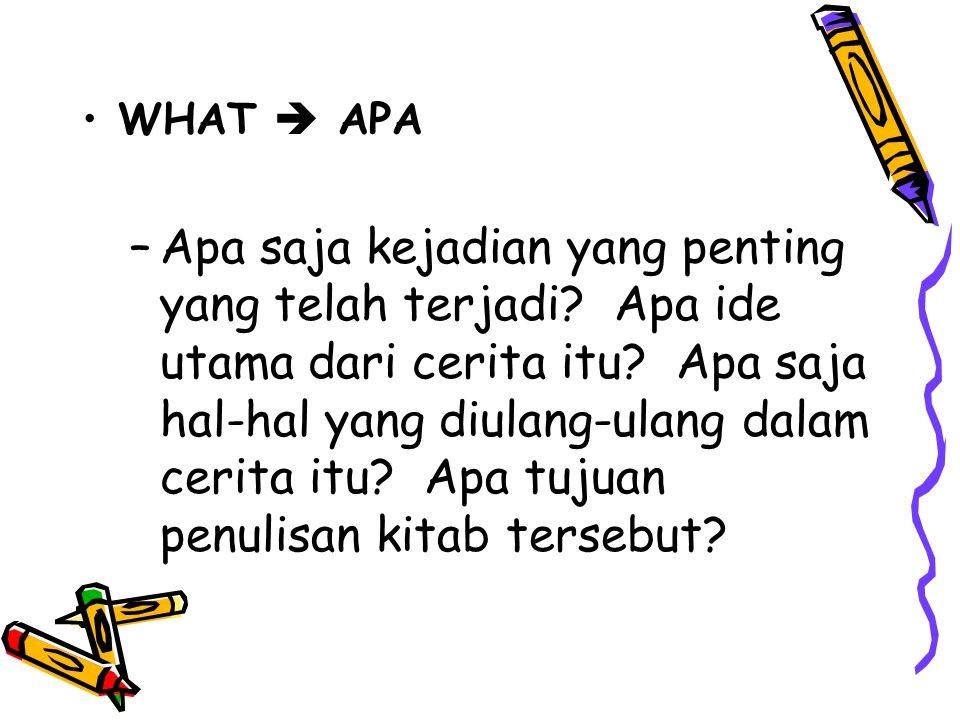 WHAT  APA