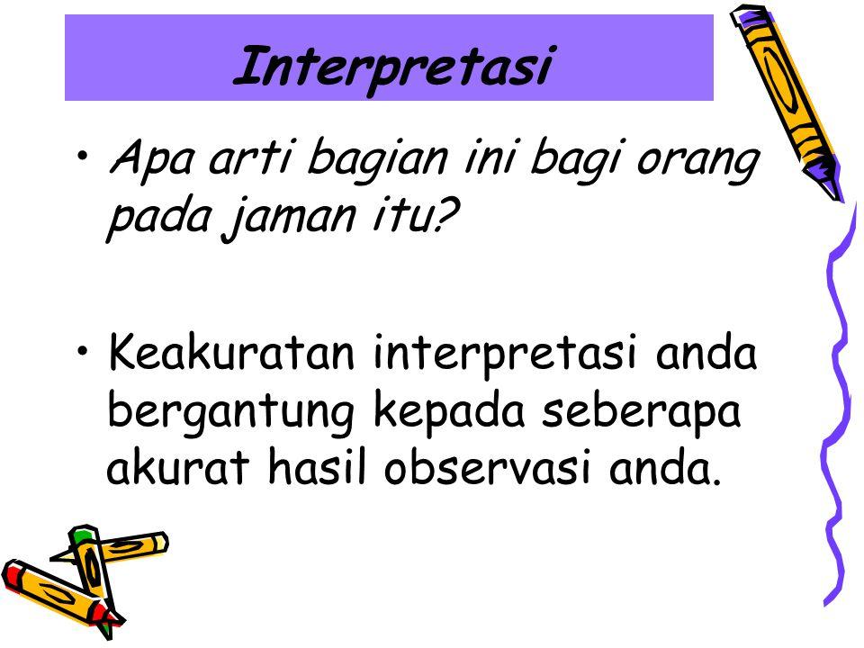 Interpretasi Apa arti bagian ini bagi orang pada jaman itu