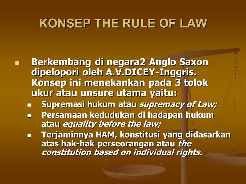 KONSEP THE RULE OF LAW