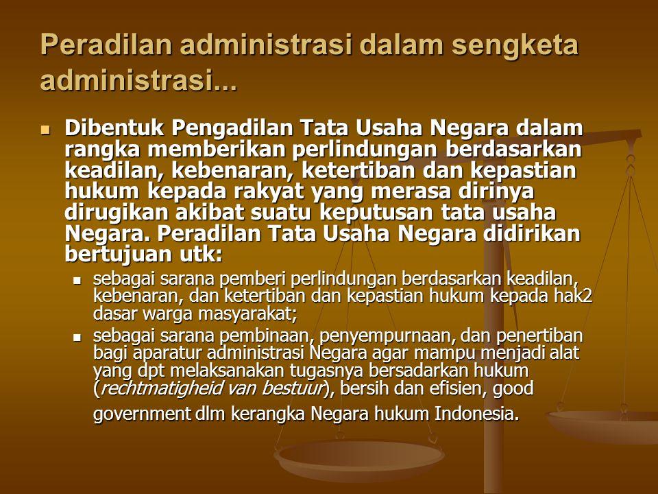 Peradilan administrasi dalam sengketa administrasi...