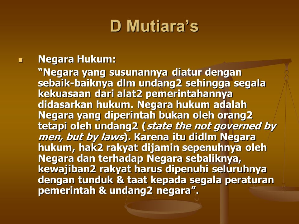 D Mutiara's Negara Hukum: