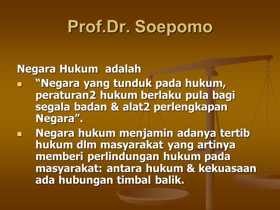Prof.Dr. Soepomo Negara Hukum adalah