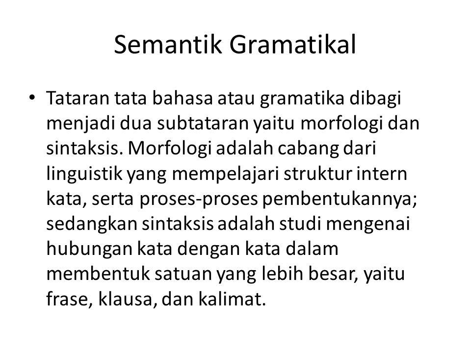 Semantik Gramatikal