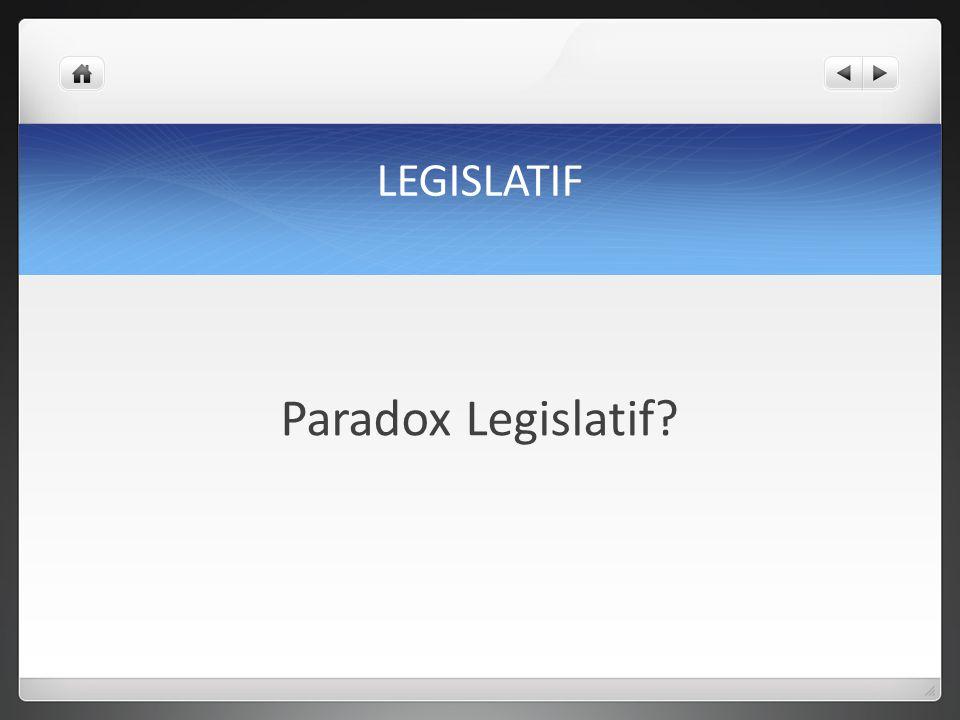 LEGISLATIF Paradox Legislatif