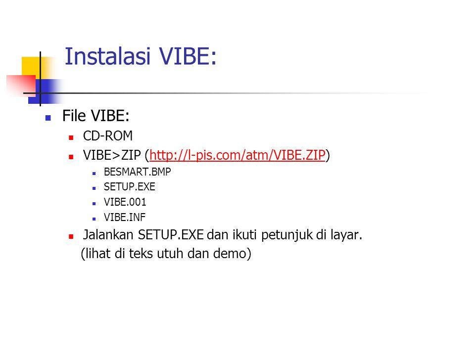 Instalasi VIBE: File VIBE: CD-ROM