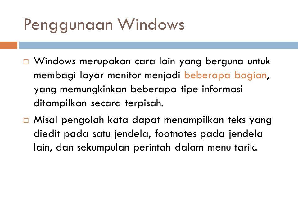 Penggunaan Windows