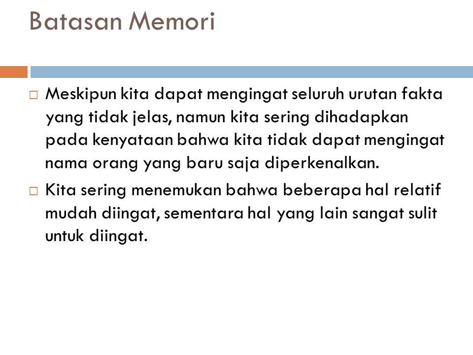 Batasan Memori