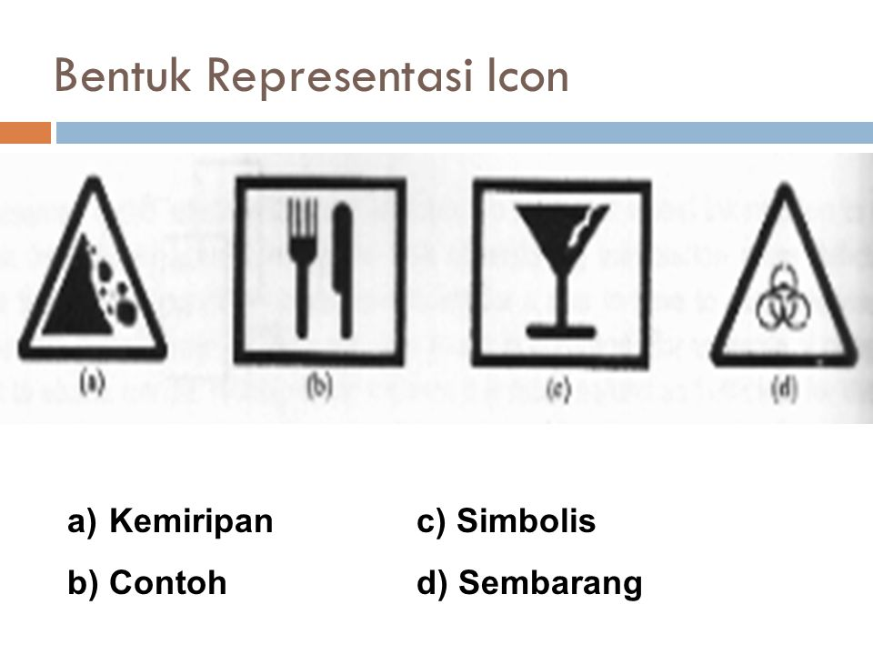 Bentuk Representasi Icon