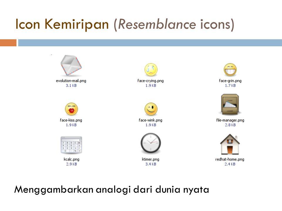 Icon Kemiripan (Resemblance icons)
