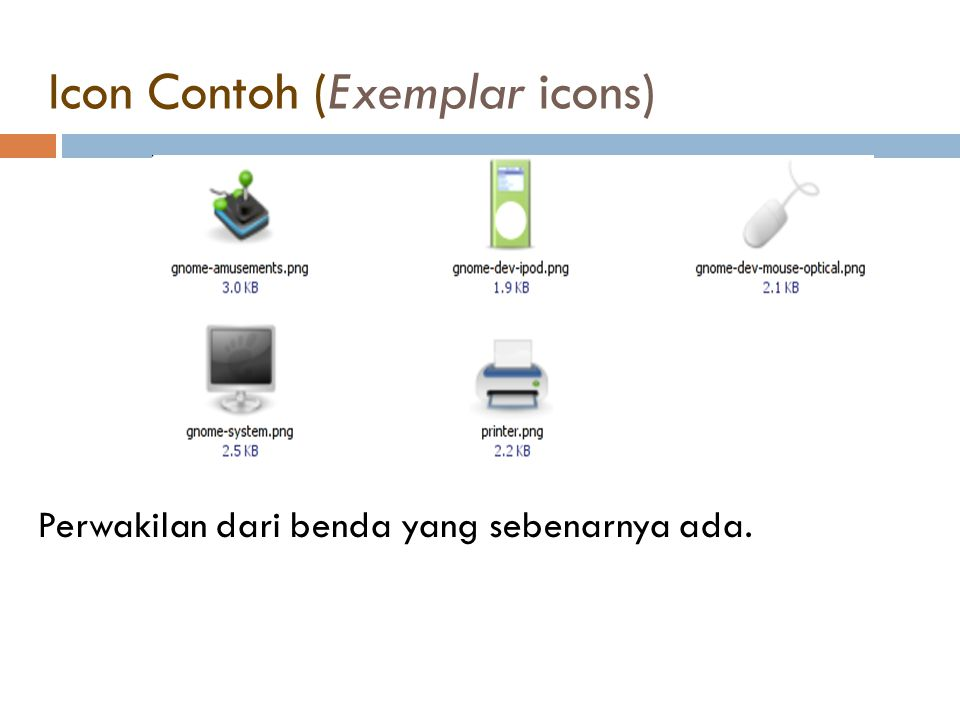 Icon Contoh (Exemplar icons)