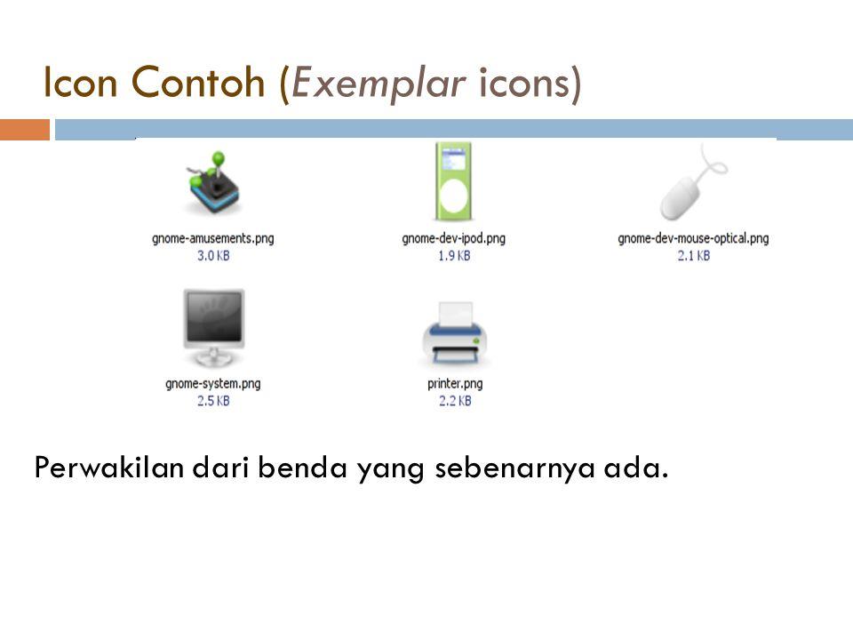 Icon Contoh (Exemplar icons)