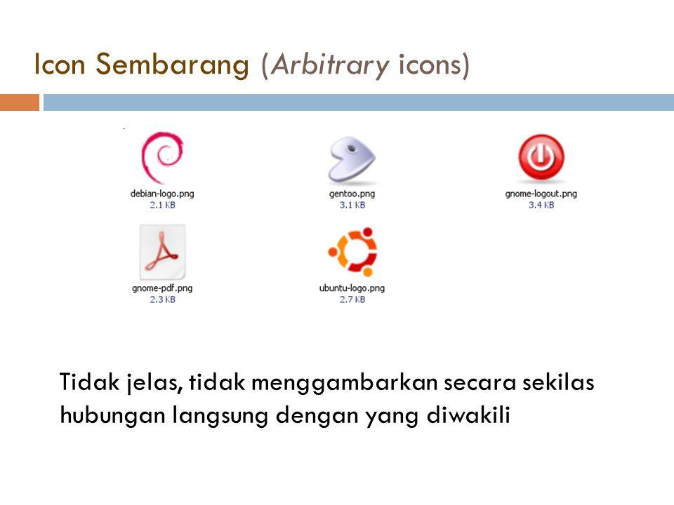 Icon Sembarang (Arbitrary icons)