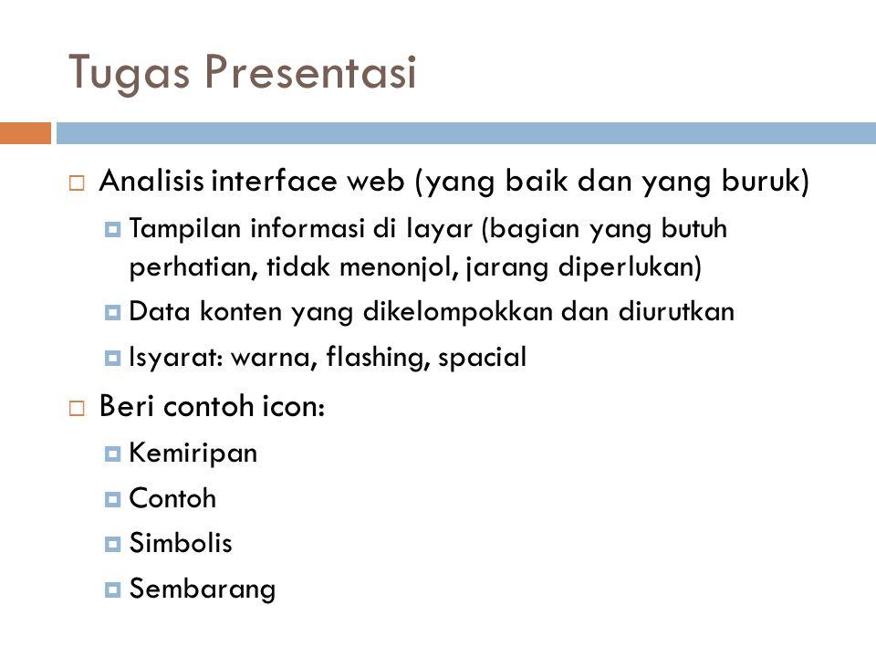 Tugas Presentasi Analisis interface web (yang baik dan yang buruk)
