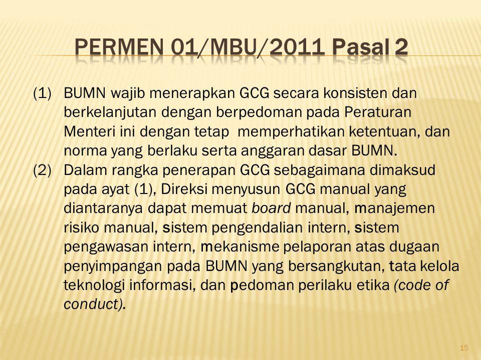 Permen 01/MBU/2011 Pasal 2