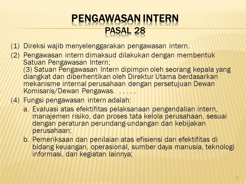Pengawasan Intern Pasal 28