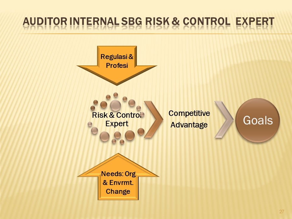 Auditor internal sbg risk & control expert