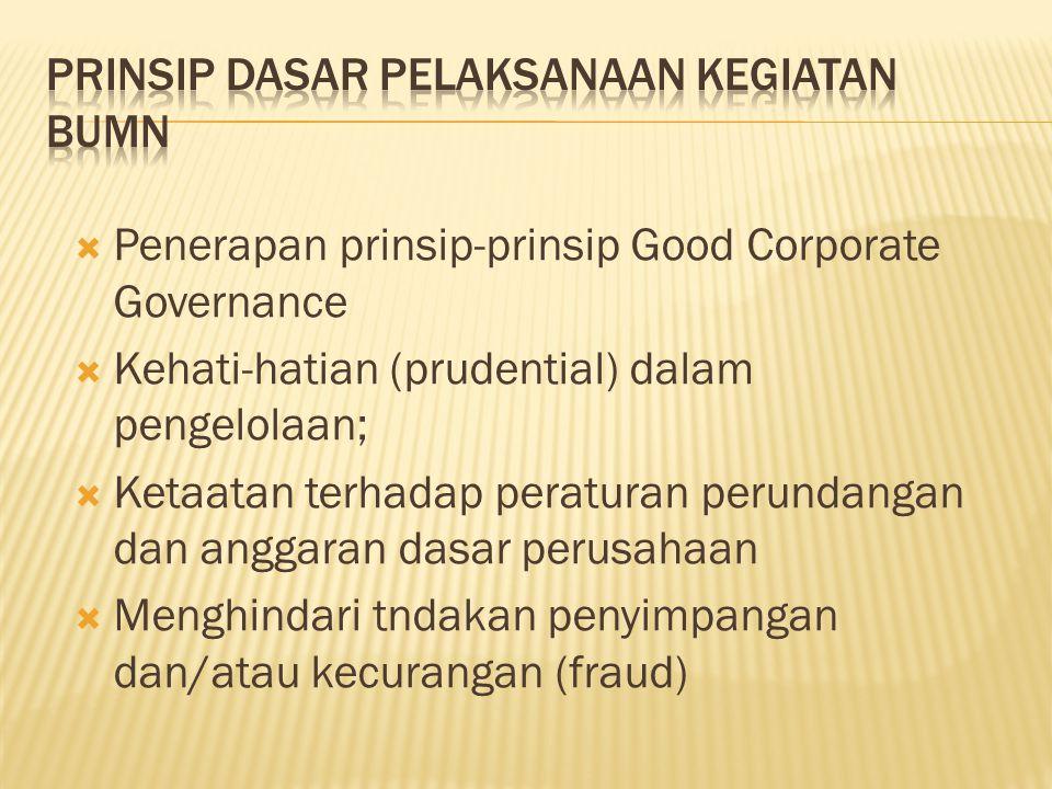 Prinsip Dasar Pelaksanaan Kegiatan BUMN
