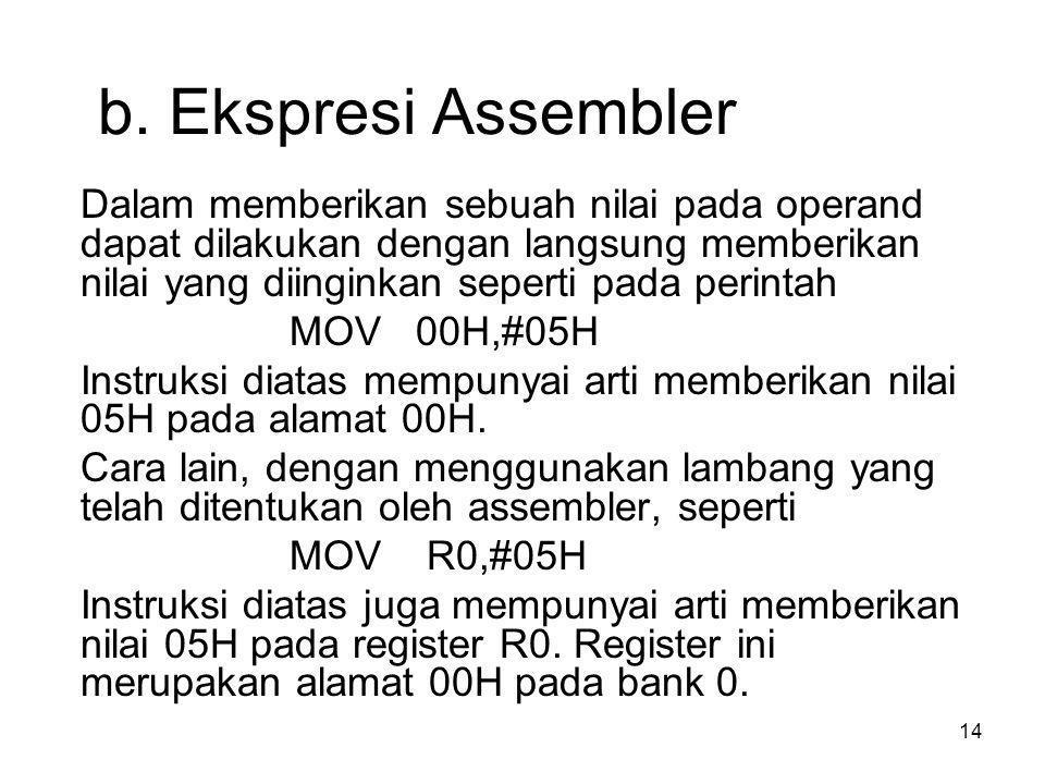 b. Ekspresi Assembler