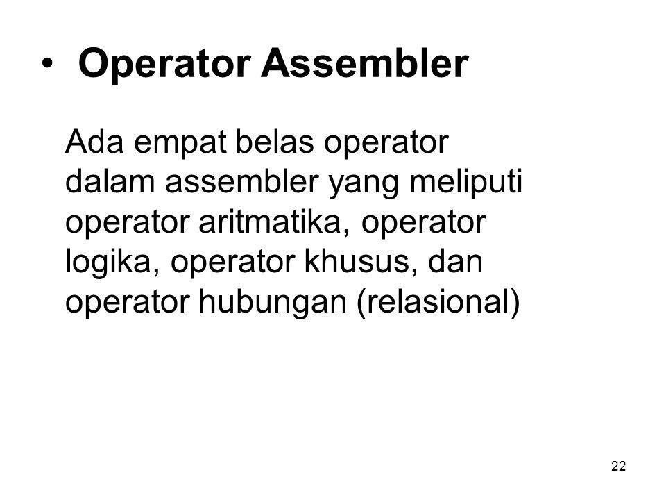 Operator Assembler