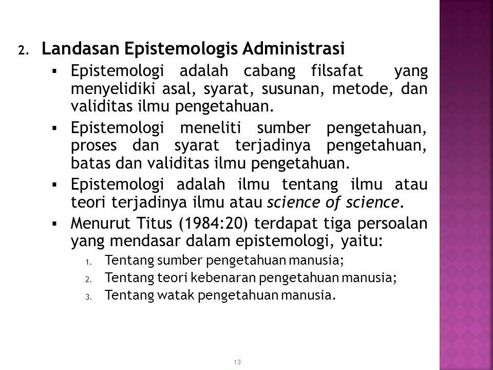 Landasan Epistemologis Administrasi