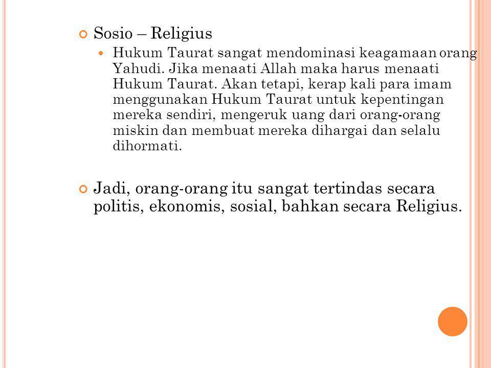 Sosio – Religius