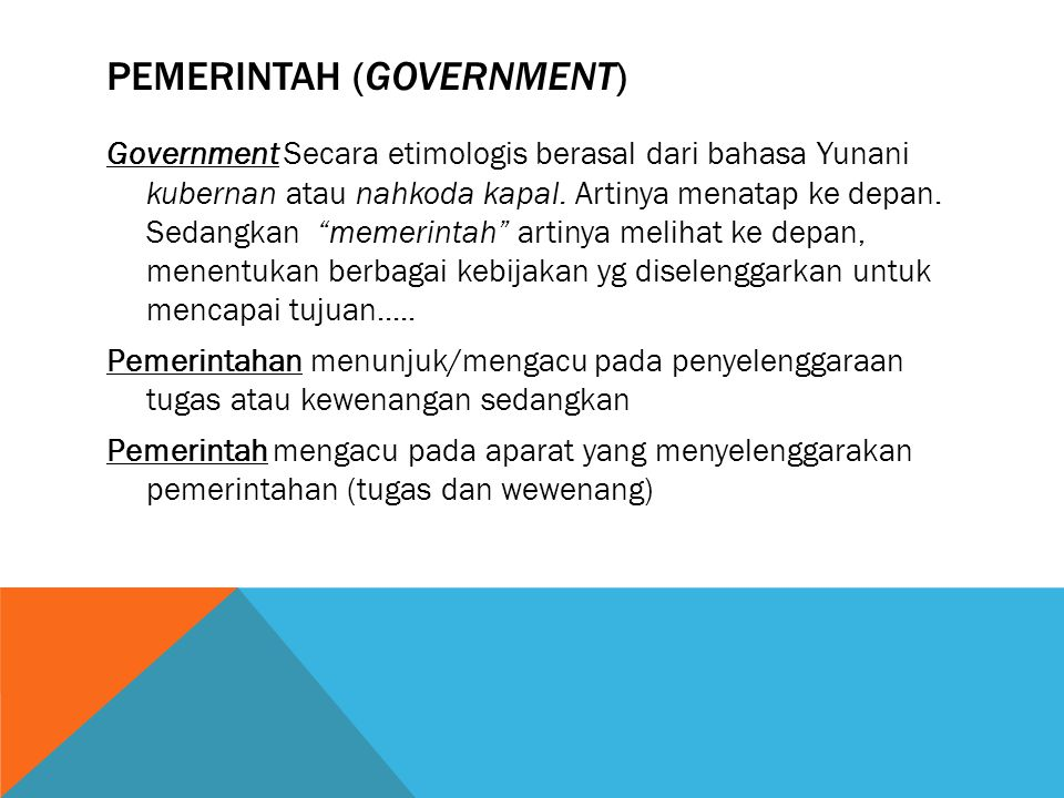 PEMERINTAH (Government)