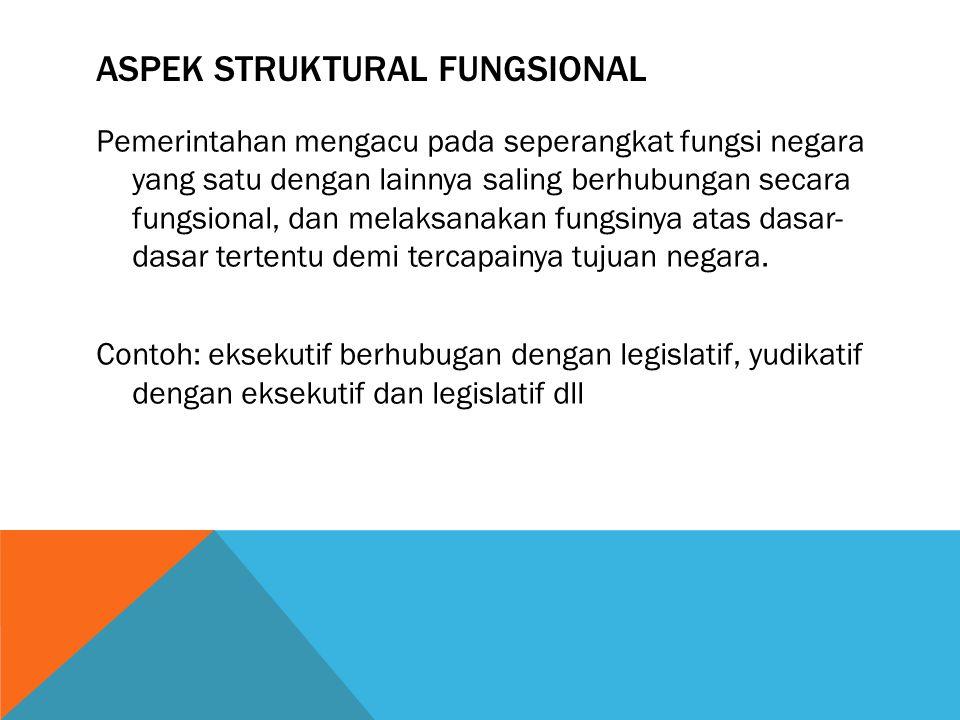 ASPEK STRUKTURAL FUNGSIONAL