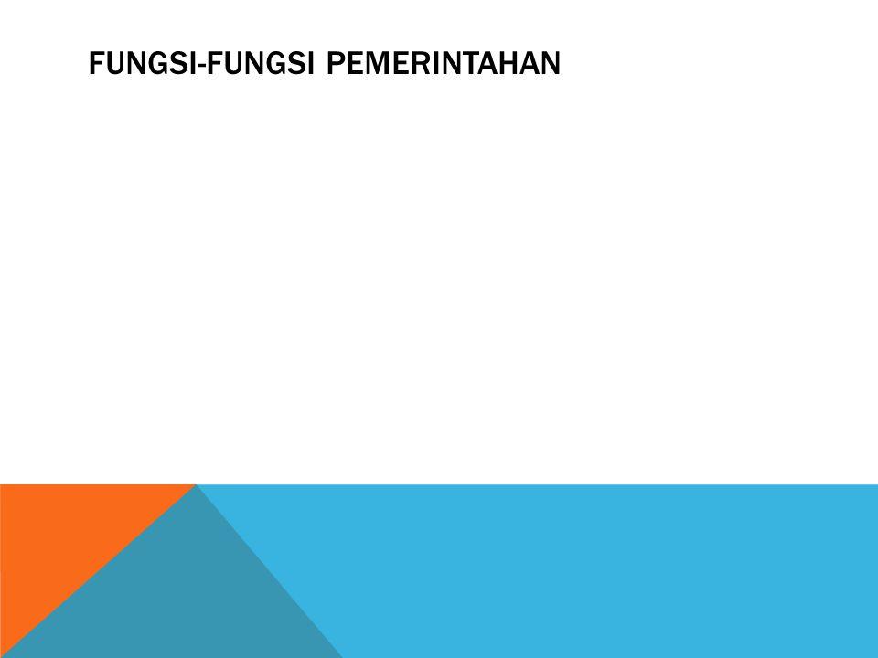 Fungsi-fungsi pemerintahan