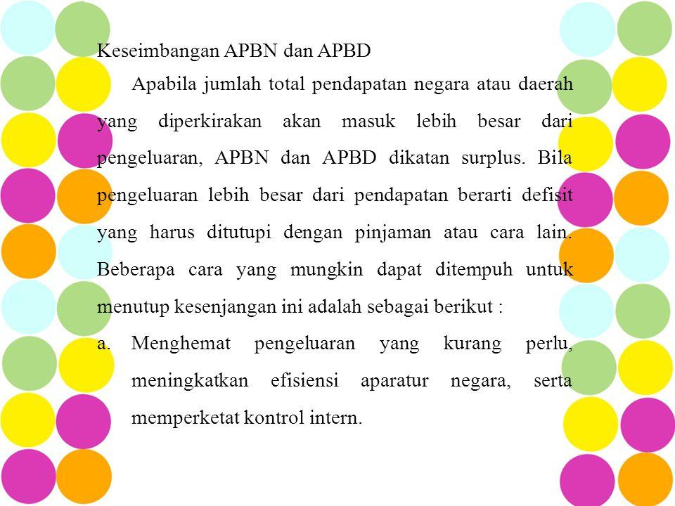 Keseimbangan APBN dan APBD