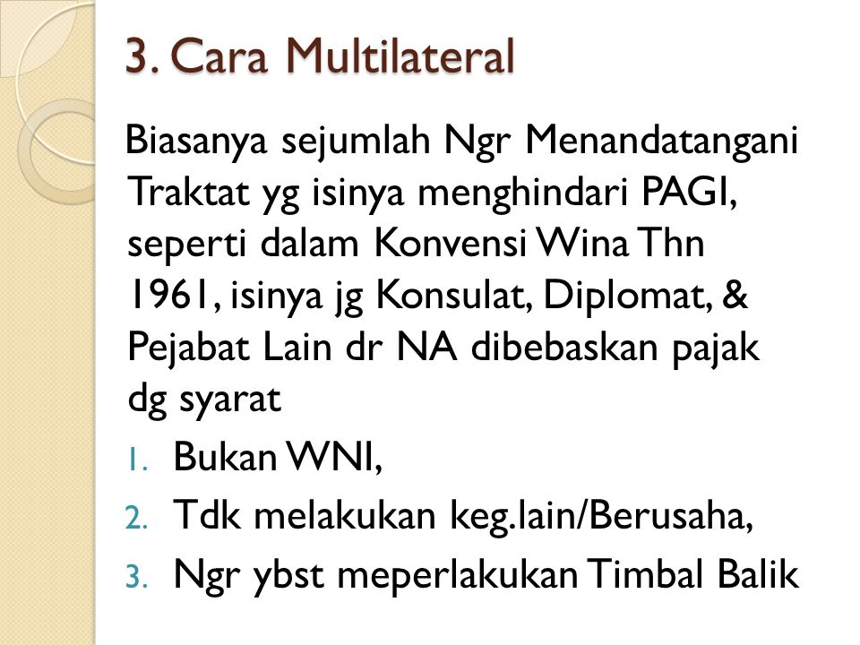 3. Cara Multilateral