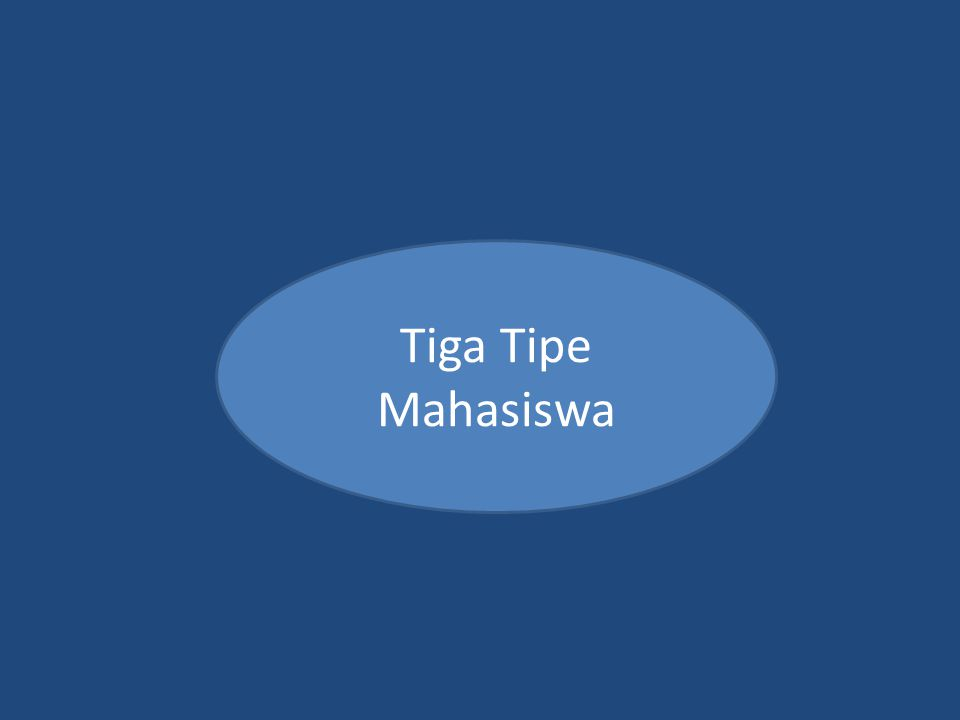 Tiga Tipe Mahasiswa
