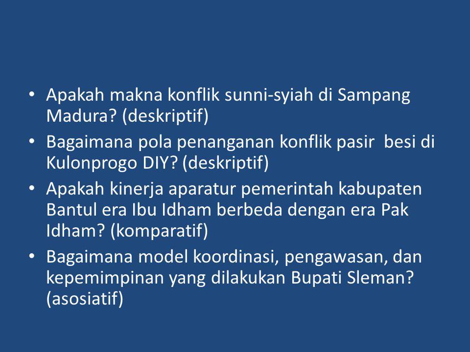 Apakah makna konflik sunni-syiah di Sampang Madura (deskriptif)
