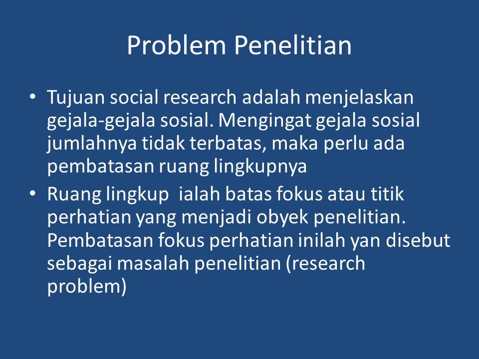 Problem Penelitian