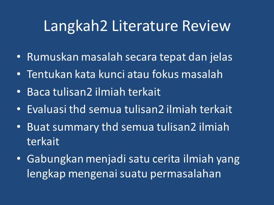 Langkah2 Literature Review