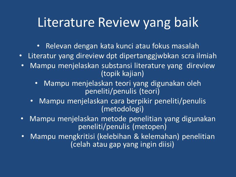 Literature Review yang baik
