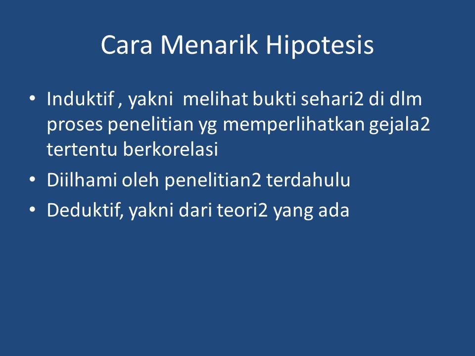 Cara Menarik Hipotesis