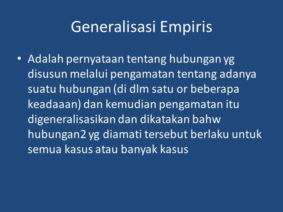 Generalisasi Empiris