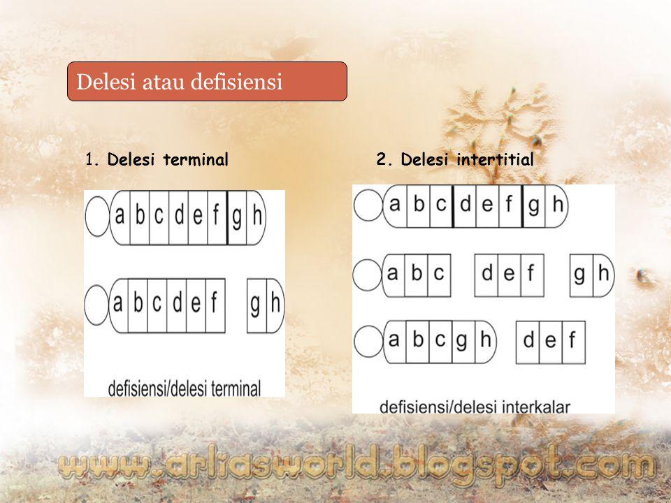 Delesi atau defisiensi