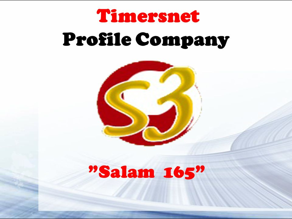 Timersnet Profile Company Salam 165