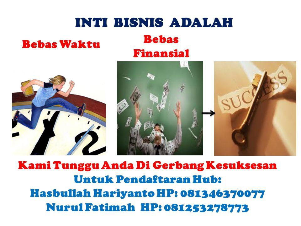 INTI BISNIS ADALAH Bebas Finansial Bebas Waktu