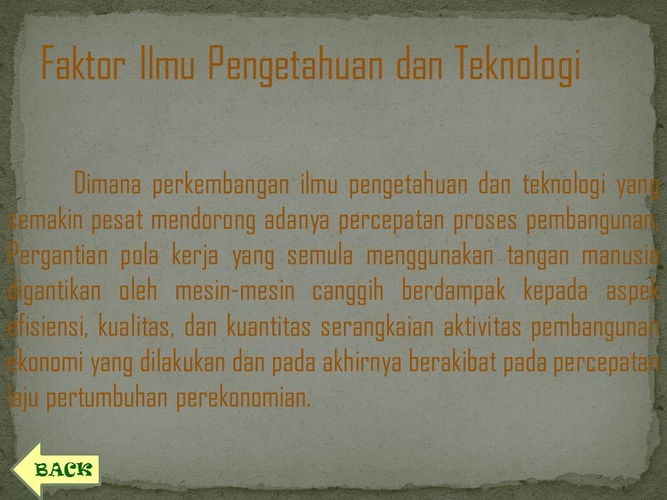 Faktor Ilmu Pengetahuan dan Teknologi