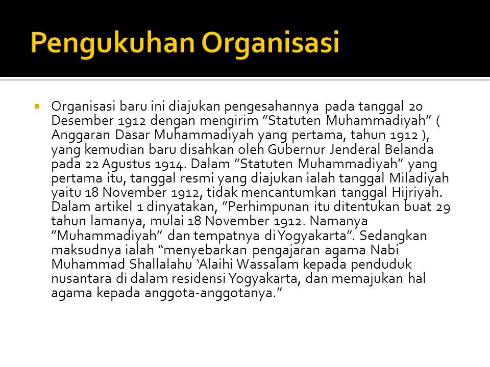 Pengukuhan Organisasi