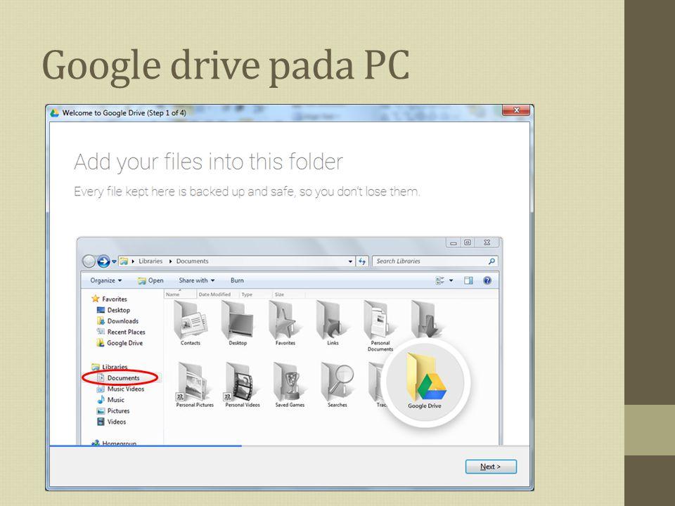 Google drive pada PC